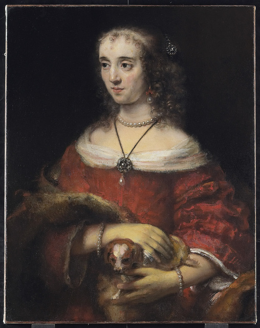 , 'Portrait of a Lady with a Lap Dog,' about 1662-65, The National Gallery, London