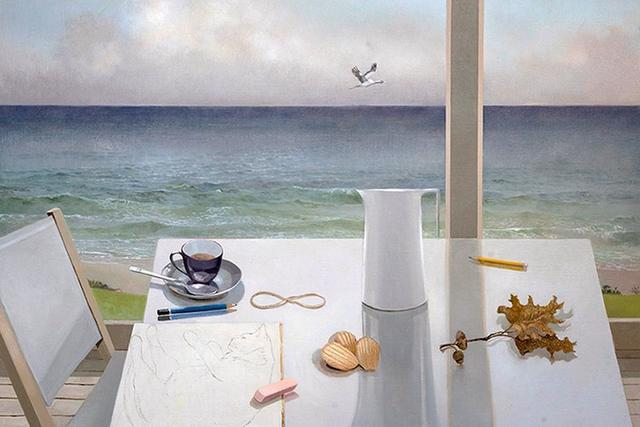 Barbara Kassel, 'Autumn Surf', Painting, Oil on linen over panel, Clark Gallery