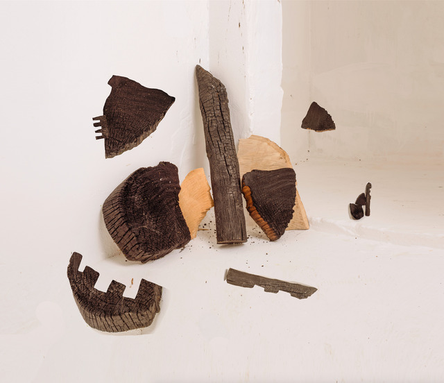 , 'Sculpture Study with Burnt Wood,' 2016, Huxley-Parlour