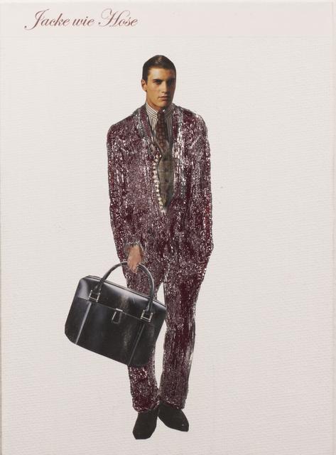 , 'Jacke wie Hose (jacket like pants),' 2017, Micheko Galerie