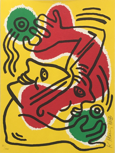 Keith Haring, ' International Volunteer Day', 1988, Hamilton-Selway Fine Art