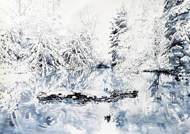 Malgosia Jankowska, 'Waldsee Im Winter', 2018, Absolute Art Gallery