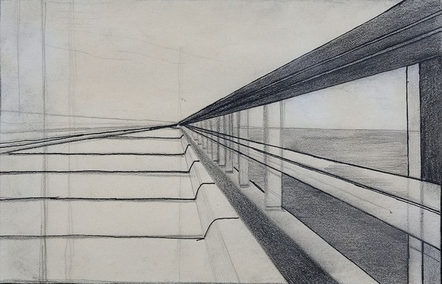 Ralston Crawford, 'Overseas Highway Sketch', 1939, Drawing, Collage or other Work on Paper, Pencil and ink on paper, Nikola Rukaj Gallery