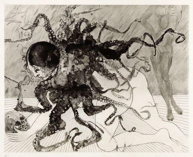 Salvador Dalí, 'Medusa (La Meduse)', 1963, Print, Etching and aquatint, Puccio Fine Art