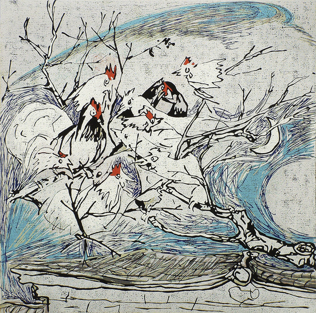 , 'Chickens Singing in a Village Tree,' 2002, Katrine Levin Galleries