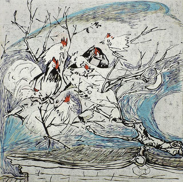 , 'Chickens Singing in a Village Tree,' 2002, Katrine Levin Galleries