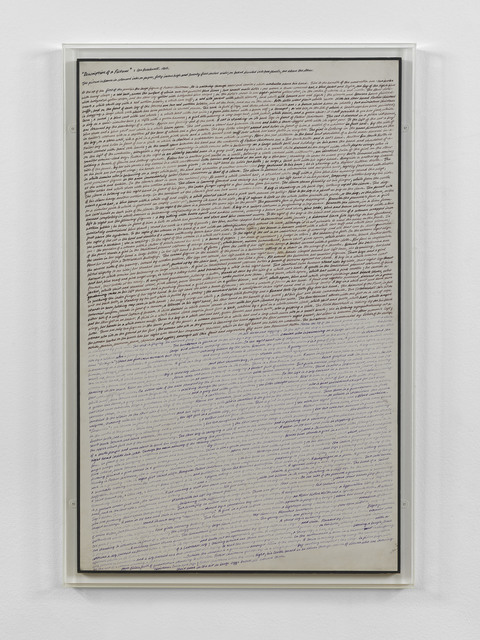 , 'Description of a Picture,' 1968, Anthony Reynolds Gallery