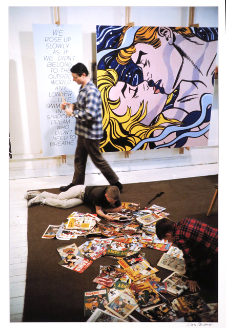 Dan Budnik, 'Roy Lichtenstein with his sons David and Mitchell, West 26th Street Studio, New York, 1964, with We Rose Up Slowly ', 1964, Etherton Gallery