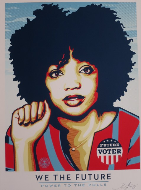 Shepard Fairey, 'WE THE FUTURE : Power to the Polls', 2018, AYNAC Gallery