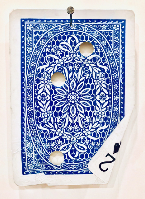 Ryan Brown, 'Two Pair (Blue Card)', 2019, Painting, Acrylic, watercolor, ink, and steel on paper., OMR