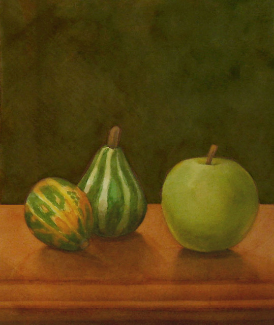 , 'Gourds with Green Apple,' 2015, InLiquid