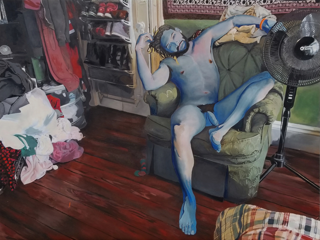 , 'I Forgot To Do My Laundry (Akeem),' 2017, Roman Fine Art