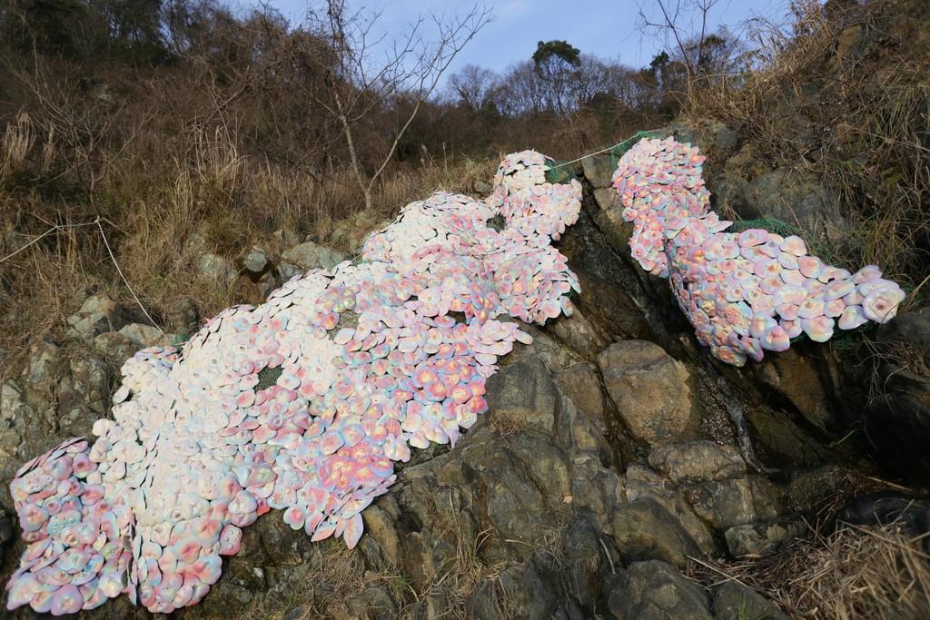 """Yumiko Shinozaki """"Outgrowth"""" 2015, Fukuchi / Fukuoka"""