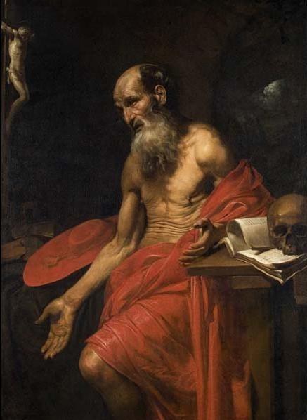 Valentin de Boulogne, 'St. Jerome', ca. 1628-30, Davis Museum