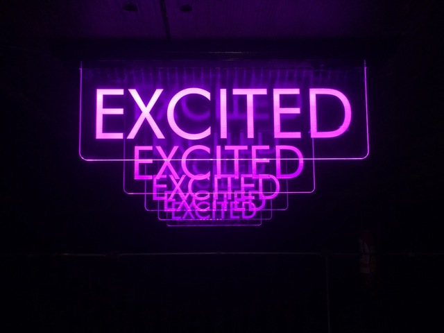 , 'Excited Sign,' 2018, Choque Cultural