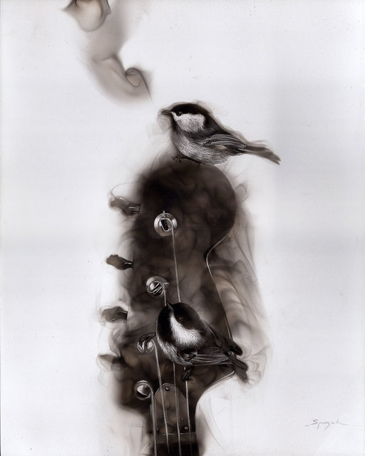 , 'Bassguitar and Chickadees,' 2015, Adelson Galleries