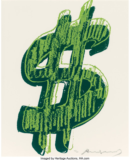 Andy Warhol, '$ (1)', 1982, Heritage Auctions