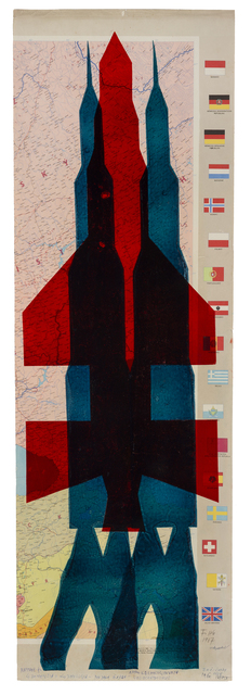 , 'Map (Red and Blue Rocket),' , The Mayor Gallery