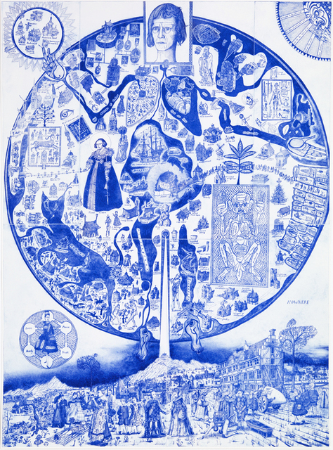 Grayson Perry, 'Map of Nowhere (blue varient)', 2008, Galerie Maximillian