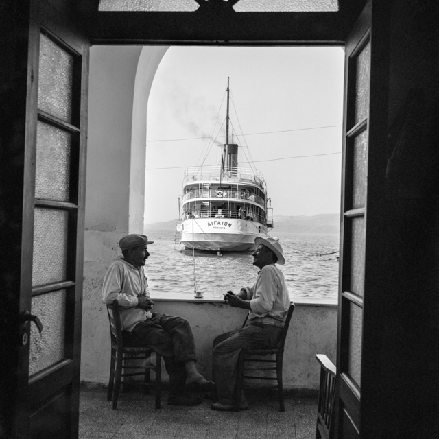 , 'Thera, The Aegaion in port below Fira,' 1955, galerie SIT DOWN