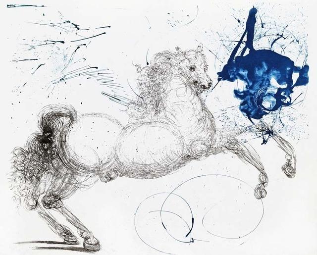Salvador Dalí, 'Mythology Suite: Pegasus', 1964, Print, Etching on Japan, Contessa Gallery