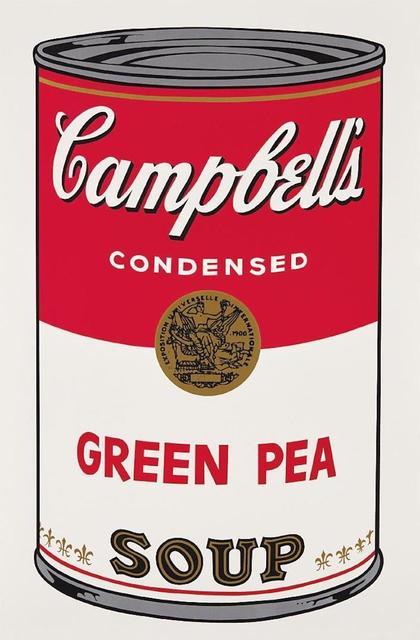 Andy Warhol, 'Green Pea Campbells Soup', 1968, Print, Screenprint on paper, OSME Fine Art