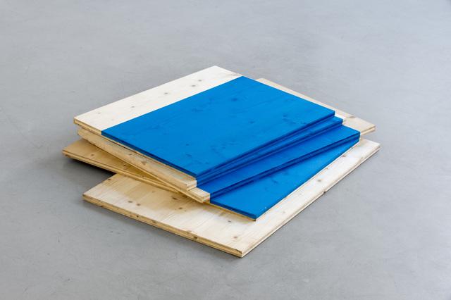 , 'Blue Floor Stack,' 1997, Galerie Michael Sturm