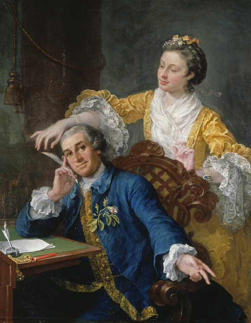 , 'David Garrick with his Wife Eva-Maria Veigel,' ca. 1757-1764, Royal Collection Trust