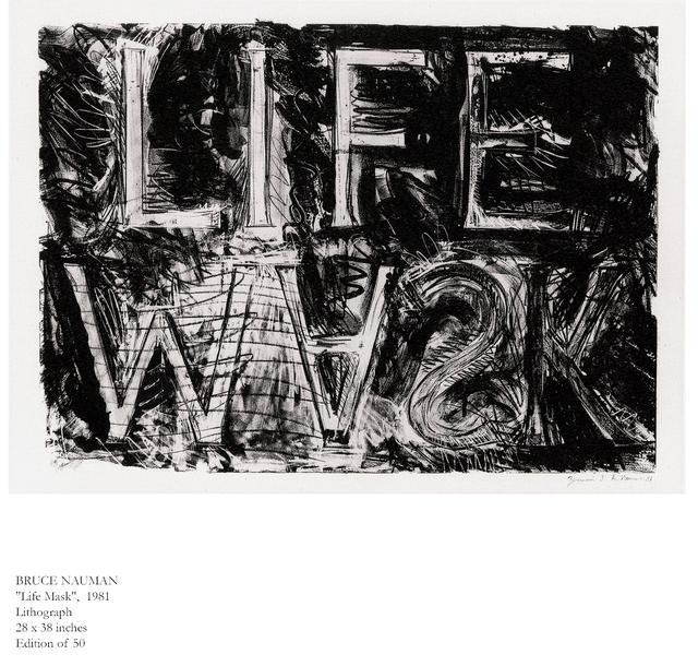 , 'Life Mask,' 1981, Brooke Alexander, Inc.