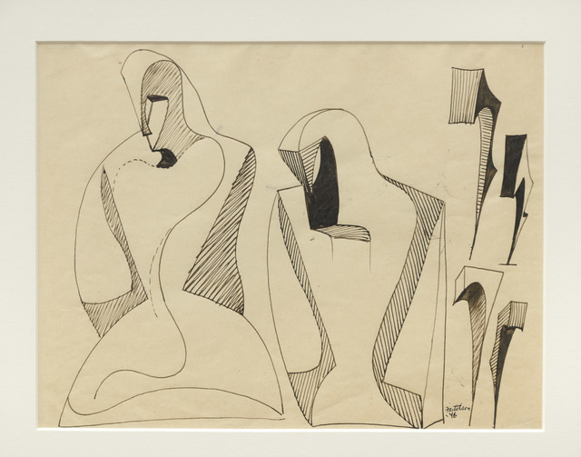 , 'Figure Evolving into Magical Forms,' 1946, Louis Stern Fine Arts