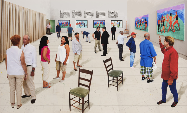 David Hockney, 'Two Chairs with People', 2014, Galerie Lelong & Co.