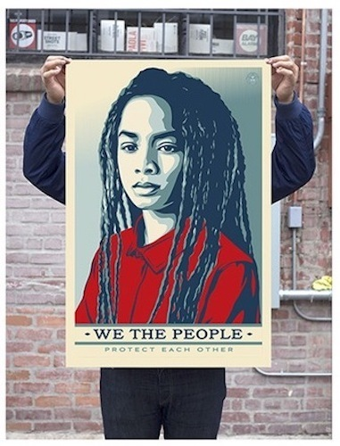 Shepard Fairey, 'Protect Each Other - Signed Offset', 2017, Blackline Gallery