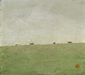 """Mark med 4 køer"" (Field with 4 cows), Bornholm"