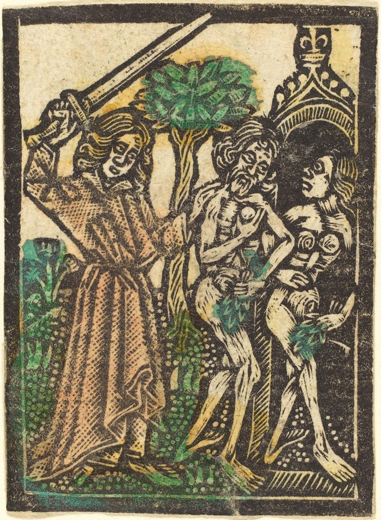 Workshop Of Master Of The Aachen Madonna The Expulsion From The Garden Of Eden 1460 1480 Artsy