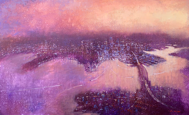 , 'Aerial Sydney Looking East,' 2019, Wentworth Galleries
