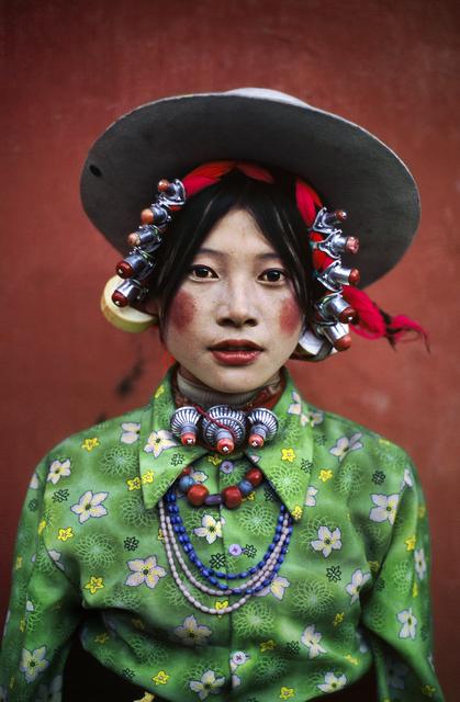Steve McCurry, 'Woman at a Horse Festival, Tagong, Tibet', 1999, Huxley-Parlour