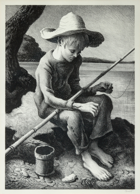 Thomas Hart Benton, 'The Little Fisherman', 1967, Print, Lithograph, Hindman