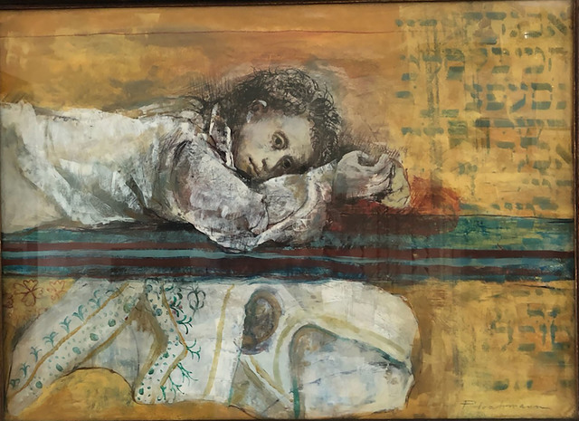 Carolyn Plochmann, 'Untitled (Resting Young Lady)', ca. 1980, Painting, Acrylic and ink on paper, Eckert Fine Art