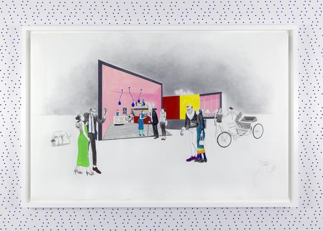 , 'Untitled (L'Escargot Quadrato Restaurant Interior),' 2013, GRIMM