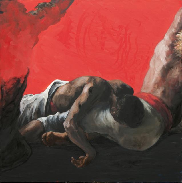 , 'Groupe fond rouge et noir,' 2014, Isabelle Gounod