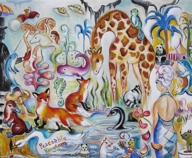 Zoa Ace, 'Peaceable Kingdom', 2015, Painting, Oil, Abend Gallery
