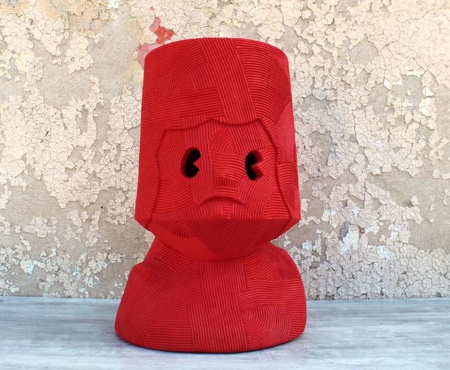 En Iwamura, 'NEO-JOMON: RED FACE', 2019, Stems Gallery