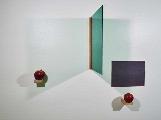 , 'a prayer with two apples (green, black, red),' 2017, BERG Contemporary