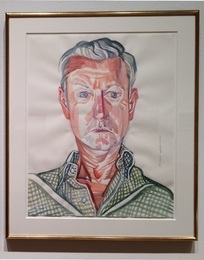 Sample portrait: John Combs, 2011. A portrait of the successful bidder, or person of his/her choice, to be painted at the artist's studio in Santa Monica.