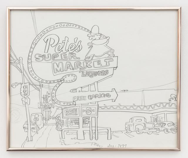 , 'Pete's Supermarket Liquors,' 1977, P.P.O.W