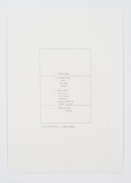 , 'A melancholic courtesan,' 2013, Sabrina Amrani