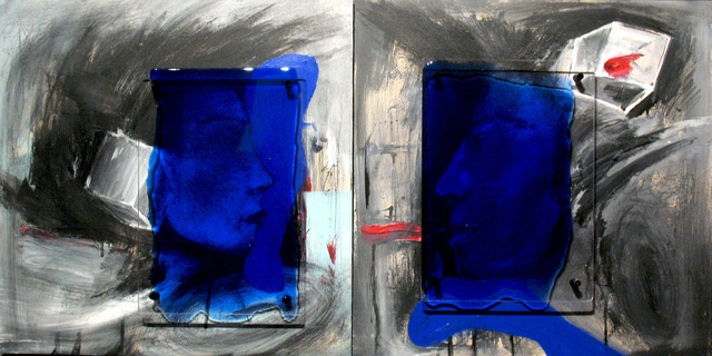 , 'Friends (Diptych),' 2011, Archangel Gallery
