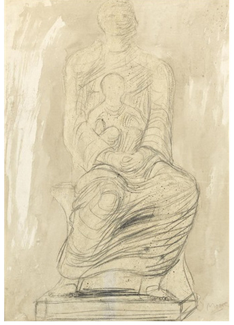 , 'Study of Madonna and Child,' ca. 1950, Osborne Samuel