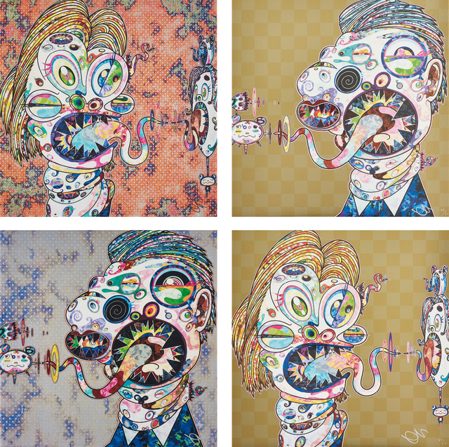 Takashi Murakami, 'Homage to Francis Bacon (Study for Head of Isabel Rawsthorne and George Dyer); Homage to Francis Bacon (Study for Head of Isabel Rawsthorne and George Dyer); Homage to Francis Bacon (Study for Head of Isabel Rawsthorne and George Dyer); and Homage to Francis Bacon (Study for Head of Isabel Rawsthorne and George Dyer)', 2016, Phillips