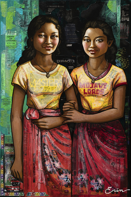 , 'Balinese Schoolgirls: Sumerti & Koming (after Chasseriau),' 2019, Blue Rain Gallery